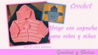 Abrigo, saquito o chaqueta con capucha para bebé a crochet - Parte 2