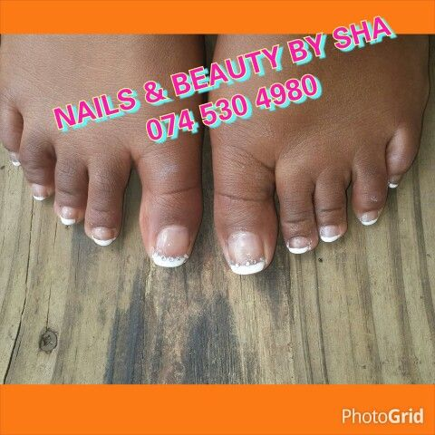 Gelish french on toes