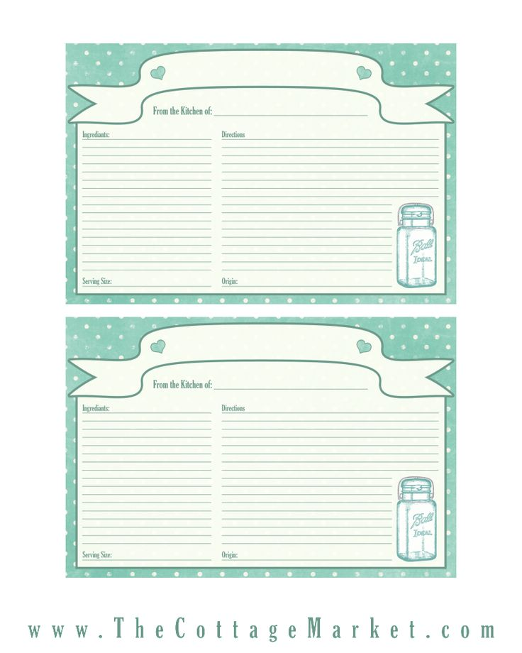 Best Recipe Cards Images On   Moldings Recipe