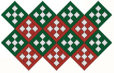Medieval Arts & Crafts: Brick stitch pattern #1