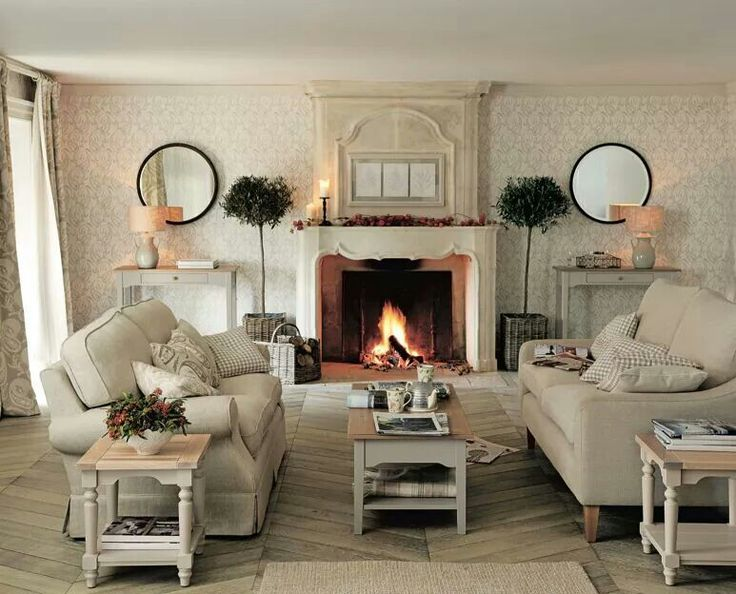 Perfect Vintage French Soul ~ Laura Ashley   Pic Of Same Living Room Showing Sofas  Facing One Another Beside The Fireplace Part 31