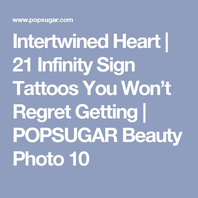21 Infinity Sign Tattoos You Won T Regret Getting