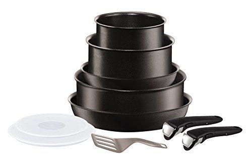 Tefal L6549702 Set de poêles et casseroles – Ingenio 5 Performance Noir 10 Pièces – Tous feux dont induction: Composition du set : poêles…