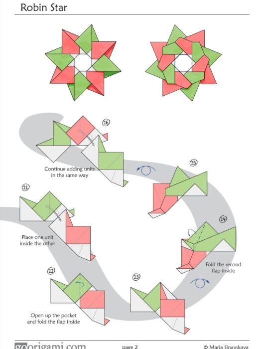 tutoriel origami shuriken