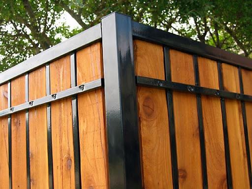 Estate Ornamental Privacy Fence, Custom Iron Privacy