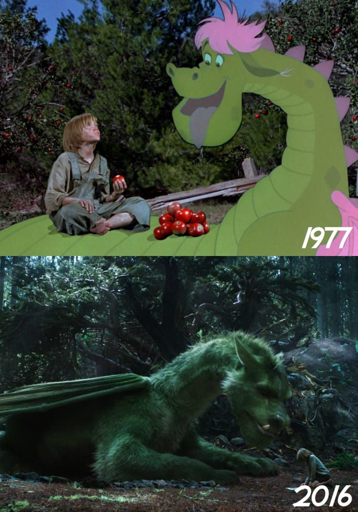 Pete's Dragon 1977 and 2016