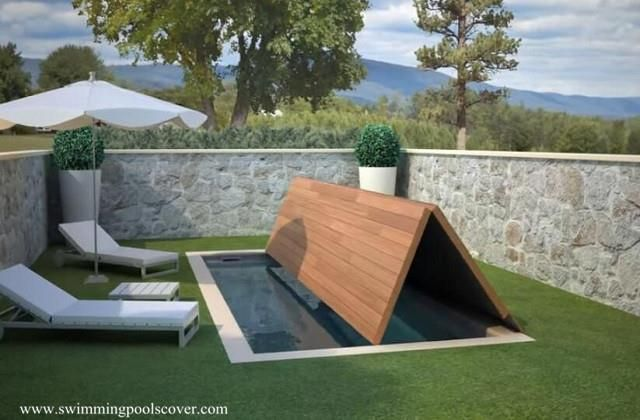 Automatic Fold Swimming Pool Covers Above Ground To Save Space