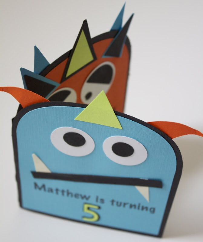 Monster Birthday Invites -- Easy Robot conversion.  ;)
