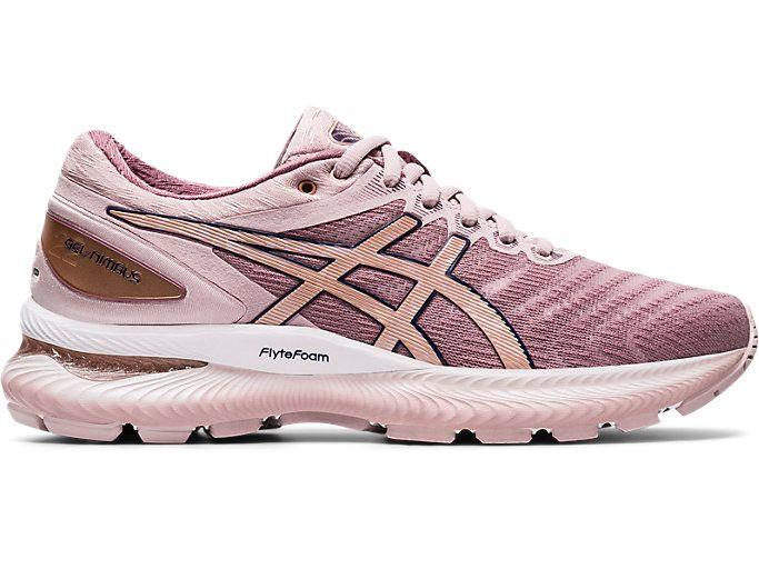 Women S Gel Nimbus 22 Watershed Rose Rose Gold Running Shoes Asics Asics Running Shoes Womens Running Shoes Womens Sneakers