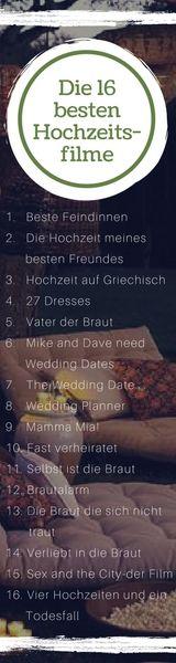DIE 16 BESTEN HOCHZEITSFILME FÜR EURE MOVIE NIGHT! Trailer findet ihr auf unserem Blog.#movienight#film#friends#wedding#fun