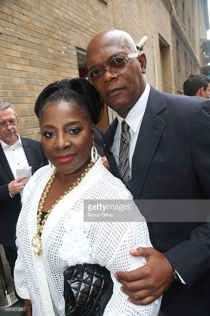 LaTanya Richardson and Samuel L. Jackson attend 'Hamilton' Broadway opening night at Richard Rodgers Theatre on August 6, 2015 in New York City.