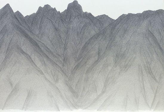 """Ryutarotakemochi Yamamura """"NEKODAKE""""  P60 Japanese paper,Ink 根子岳 P60 和紙、墨"""