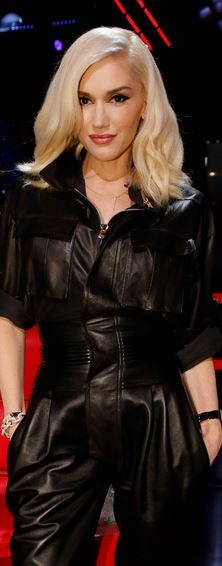 Who made  Gwen Stefani's black leather jumpsuit?