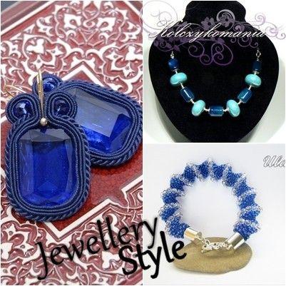 Jewellery Fashion | kolczykomania  Stylizacja Biżuteryjna: Niebieski atom  naszyjnik - http://kolczykomania.com/produkt/naszyjnik-agat-koronkowy-z-ceramika kolczyki - http://kolczykomania.com/produkt/kolczyki-sutasz-granatowe bransoletka - http://kolczykomania.com/produkt/bransoletka-szafirowa-cellini  Stylistka: Pracownia angeluS