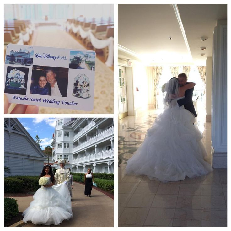 Today, Natasha cashed in on her Disney wedding voucher and shared a precious first look with the man who gifted it to her...her father.  #bride #wedding #firstlook #Disney
