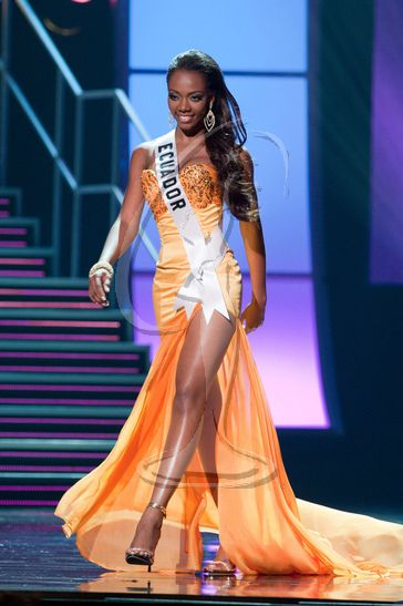 Lady Mina Lastra, Miss Ecuador 2010, the third woman of Afro-Ecuadorian descent to win Miss Ecuador