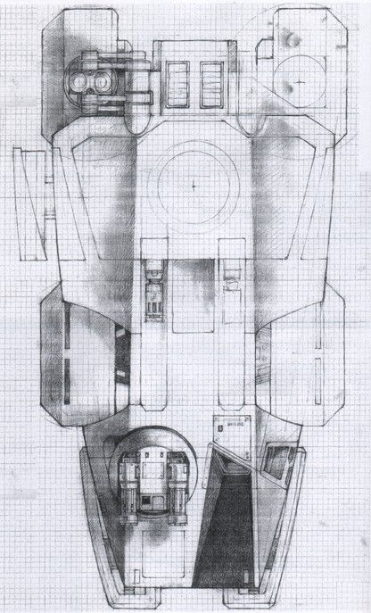 Aliens: APC Concept Art by Ron Cobb