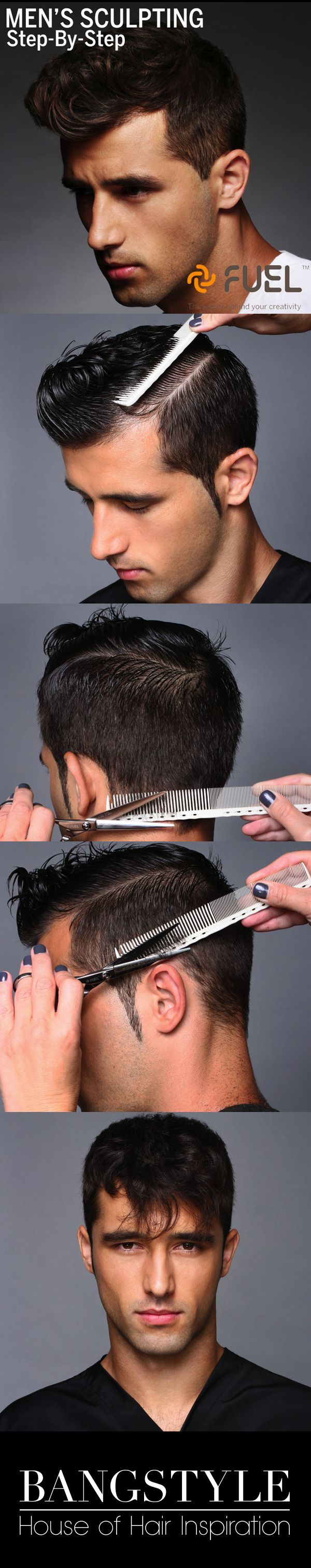 Step-by-step sculpting guide for men's hair
