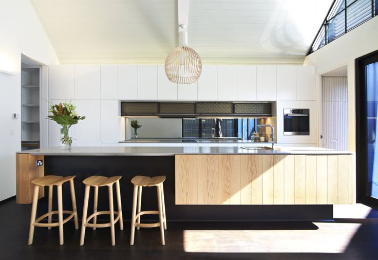Project - The Subiaco Oval Courtyard | #Scandinavian styling in a simple #openplan #kitchen design with aged bronze mesh cupboard details | #LuigiRosselliArchitects | © Edward Birch