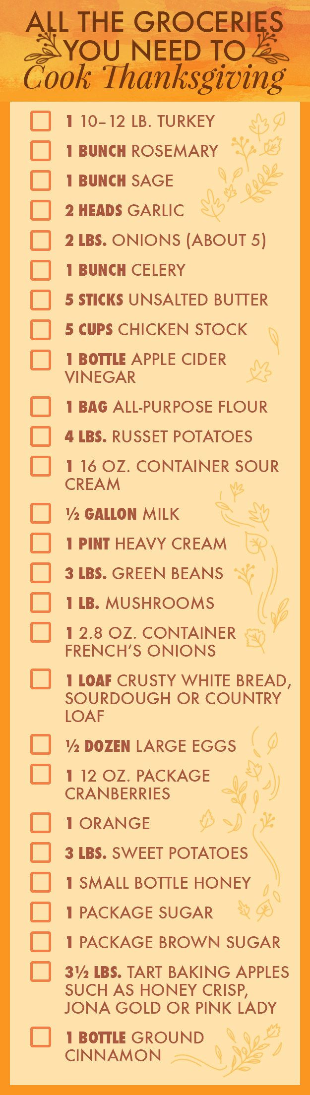 Here's your shopping list and a super helpful *printable* PDF.