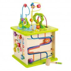 Wooden Puzzles: Hape Country Critters Play Cube