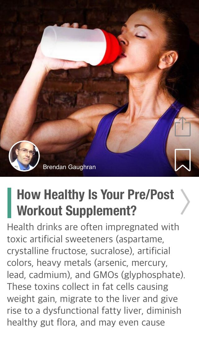 How Healthy Is Your Pre/Post Workout Supplement? - via @CureJoy