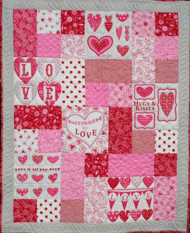 Surrounded by Love Quilt by Deb Strain for Moda | kit at Old South Fabrics
