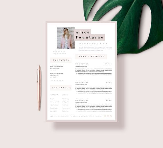 Creative Resume Template Word Pages Instant Download Resume Etsy Creative Cv Template Resume Template Word Resume Template