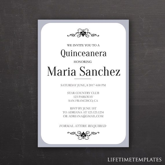 20 best Shoot Glorias Quince images on Pinterest Quince ideas - best of sample letter of invitation to special event