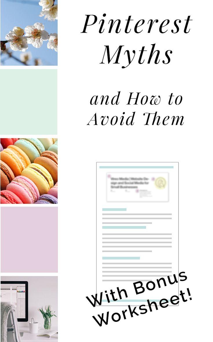 Pinterest myths and how to avoid them   Pinterest Marketing   Pinterest Strategy   Pinterest 101 #Pinterest #PinterestMarketing via @VireoMedia