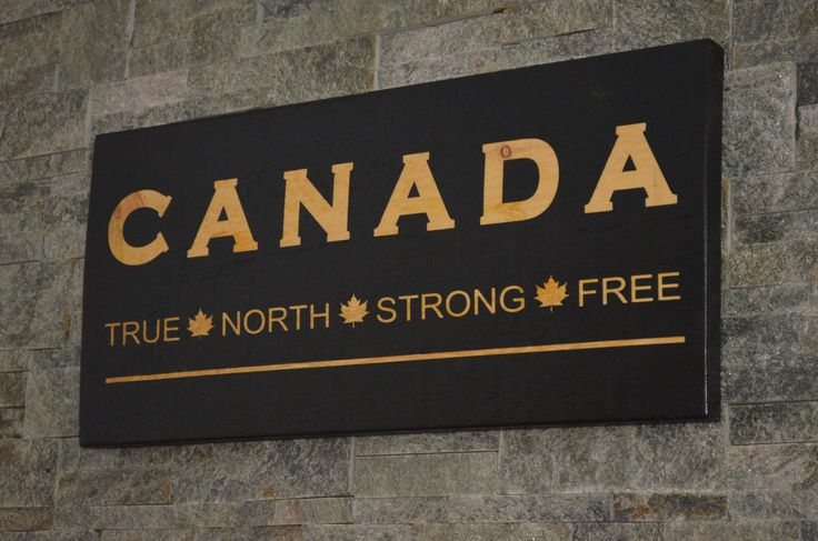 "CANADIAN TRUE NORTH STRONG FREE, CANADA ON BARNBOARD, CANADA 150, FARMHOUSE SIGN COLLECTION, APPROX SIZE 12"" X 25"", RUSTIC, 1"" ROUGH CUT SOLID PINE, HAND CRAFTED WOOD SIGNS, PAINTED WOOD SIGNS, BARN BOARD SIGNS, CHIC WALL DECOR, HOME DECOR, VINTAGE SIGNS, RECLAIMED WOOD SIGNS, ANTIQUE WOOD SIGNS, DISTRESSED WOOD SIGN, CUSTOM WOOD SIGNS, CANADA WOODWORKS, ALLISTON ONTARIO CANADA, CANADAWOODWORKS.COM"