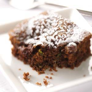 Zucchini Chocolate Cake Recipe from Taste of Home -- shared by Weda Mosellie of Phillipsburg, New Jersey