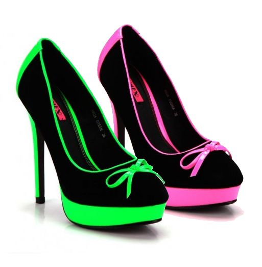 Friday night brights dancing heels! Damenschuhe - Neon High Heels  #damenschuhe
