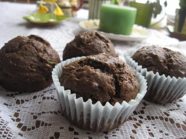 Chocolate Zucchini Bread. Photo by superblondieno2: Desserts, Food Recipes, Food Com, Chocolates Zucchini Breads, Breads Recipes, Zucchini Bread Recipes, Chocolate Zucchini Muffins, Chocolate Zucchini Bread, Photo
