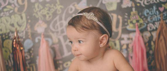 Strass Baby hoofdbanden Couture Baby hoofdband door Tatishotties