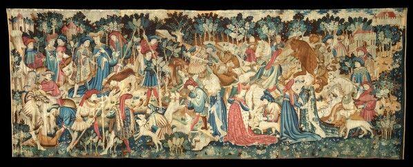 Tapisserie du Duc de Devonchire, scène de chasse XVème siècle