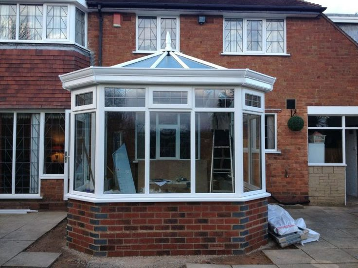 Outside view of conservatory - Complete. http://www.finesse-windows.co.uk/orangeries.php