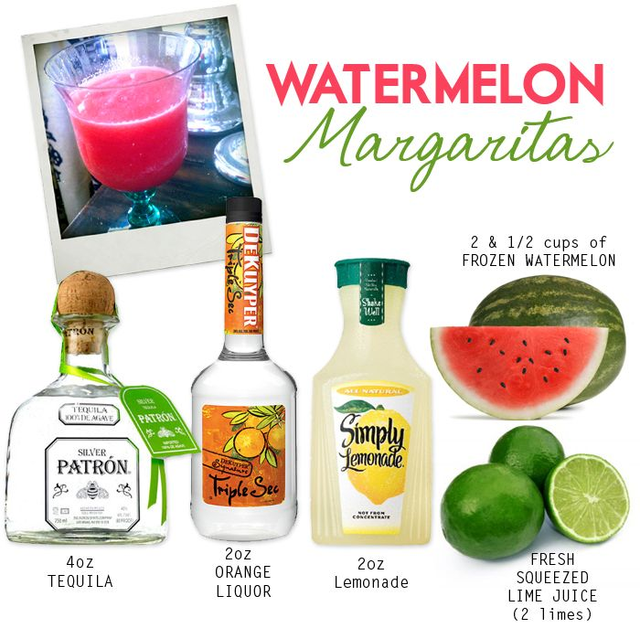 Watermelon Margarita's. Watermelon + Patron .... does it get any better than this? \kp/