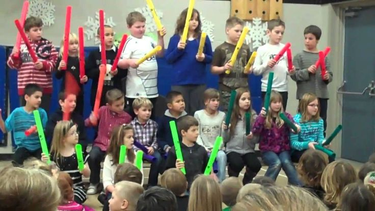Deck the Halls Boomwhackers - Elementary Grade 3 Holiday Music Concert Idea - Simple Boomwhackers