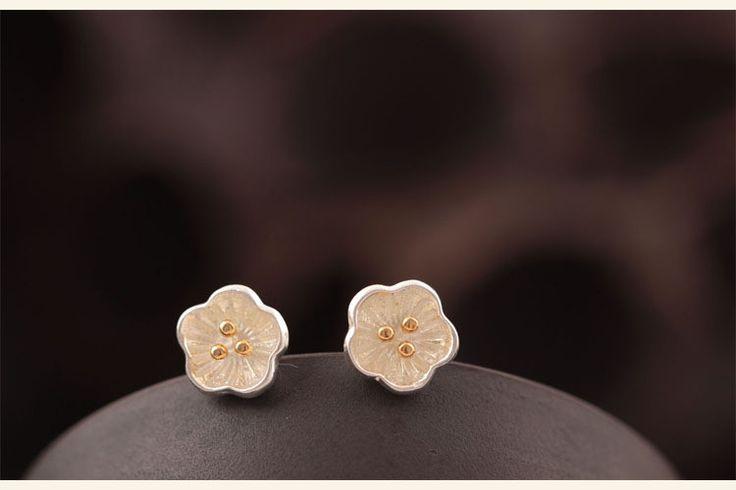 Silber Ohrstecker - echt 925 Silber Ohrstecker Blume Ohrringe silber - ein Designerstück von TO_Design bei DaWanda