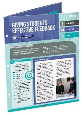 Feedback is one of the most important variables affecting student learning. Susan Brookhart shares how and when to provide effective feedback that helps students see where they are going, where they are now, and where they should go next in their learning.