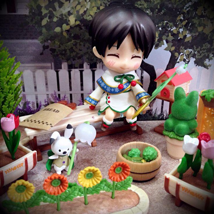 Eren in the wonderful garden.