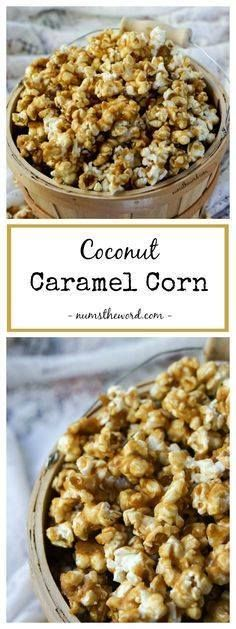 Coconut Caramel Corn Coconut Caramel Corn is made with coconut oil and tastes amazing. Simple delicious and yet subtle coconut flavor add a layer of deliciousness to this caramel corn that everyone will love! #coconut #caramelcorn #vegan #vegetarian #caramel #autumn #fall #dessert #coconutcaramel #popcorn #caramelpopcorn #dessert #appetizer Recipe : http://ift.tt/1hGiZgA And @ItsNutella  http://ift.tt/2v8iUYW  Coconut Caramel Corn Coconut Caramel Corn is made with coconut...