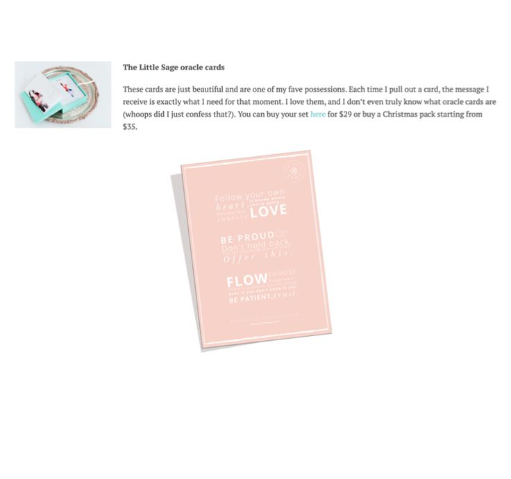 Our oracle cards and free manifesto were featured on @naomilarnold's Christmas Gift Ideas - we're so grateful for the inclusion, thank you! Download our free manifesto and other freebies: http://www.thelittlesage.com/freebies/ Read more: http://www.projecthealthyhappyme.com/christmas-gift-ideas/