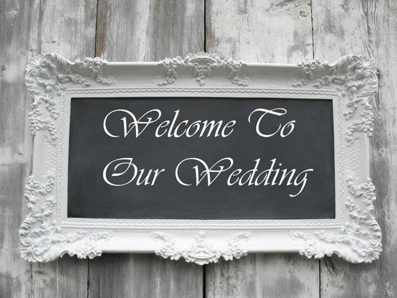 Shabby Chic Home WEDDING Chalk board