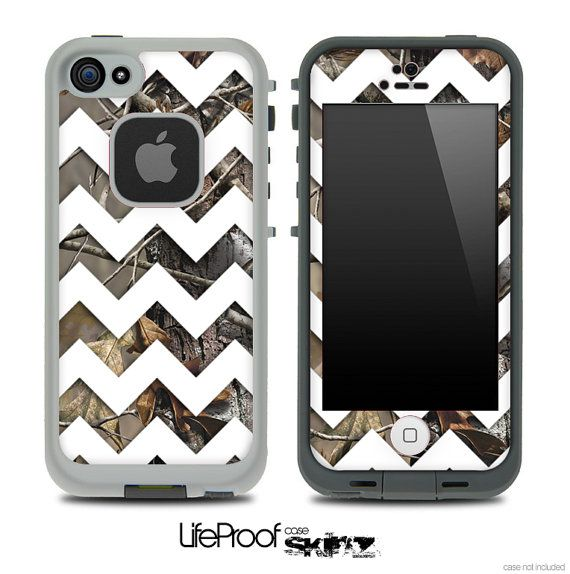 GIVE ME!!!! Camo Chevron Print Skin for the iPhone 4/4s or 5 LifeProof Case on Etsy, $9.99 I SO NEEd this!!