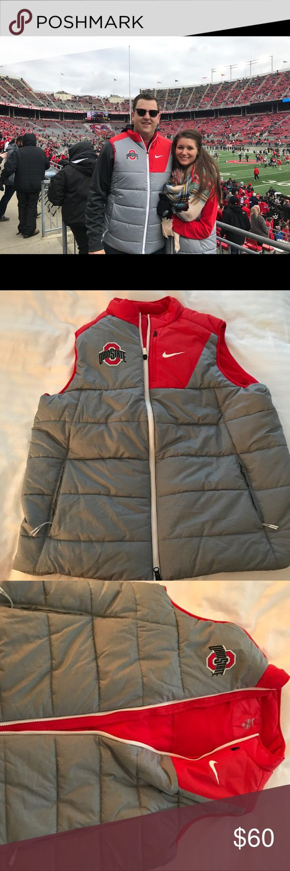 Men's XL Ohio state Nike Vest Worn once for an Ohio state game by my husband Nike Jackets & Coats Vests