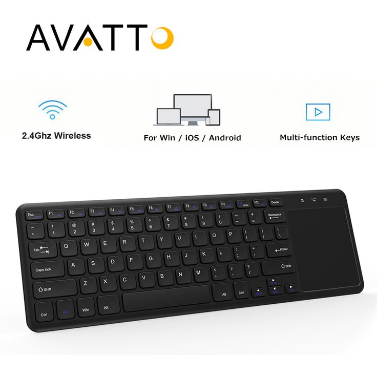 [AVATTO] NEW T18 Thin-size 2.4G Wireless Multimedia Keyboard with Touchpad for Windows PC,ios pad,Smart TV,HTPC IPTV,Android Box