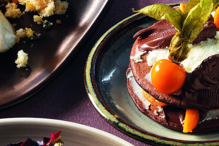 Pancake al cacao con ricotta