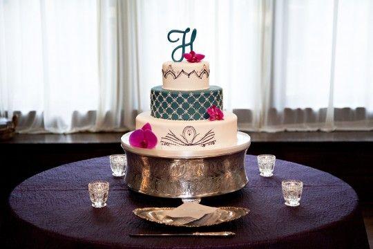 Nashville Garden Wedding Venue Round Multicolored Wedding Cake